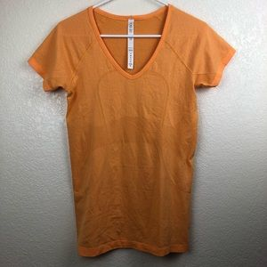 Lululemon | Orange Swiftly Short Sleeve Shirt Sz 8
